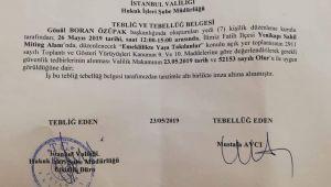 Valilik, EYT'nin Yenikapı mitingine izin verdi