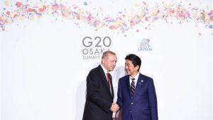 Son dakika! Fotoğraflar az önce geldi! Cumhurbaşkanı Erdoğan'dan Japonya'da önemli görüşmeler