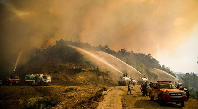 Antalya yangını halcileri tedirgin etti