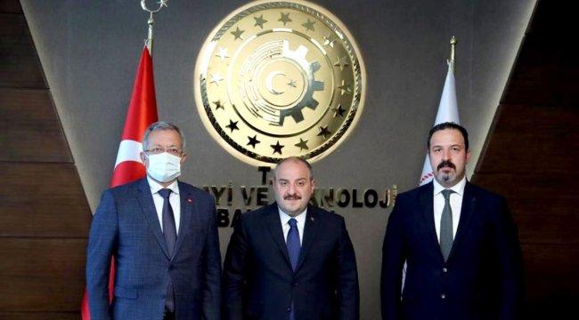 MTOSB Başkanı Tekli, Bakan Varank'ı ziyaret etti